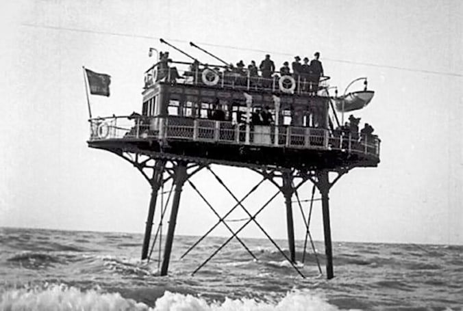 The undersea electric railway built and abandoned within six years