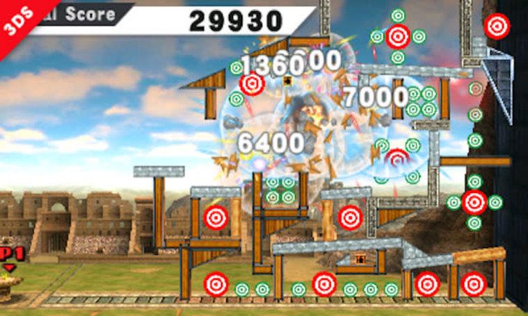 Target Blast minigame racks up points in Smash Bros. 3DS