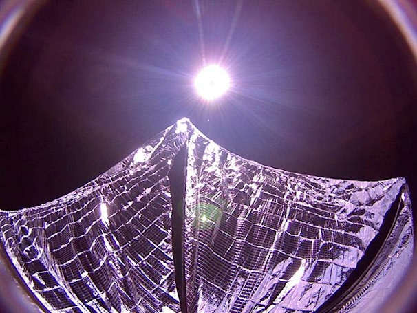 LightSail sends back photo of deployed solar sails