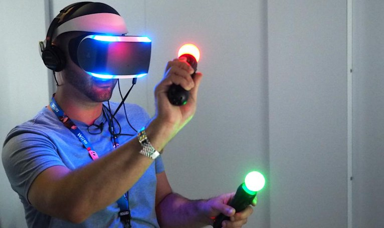 Getting sweaty with the future of Sony's virtual reality