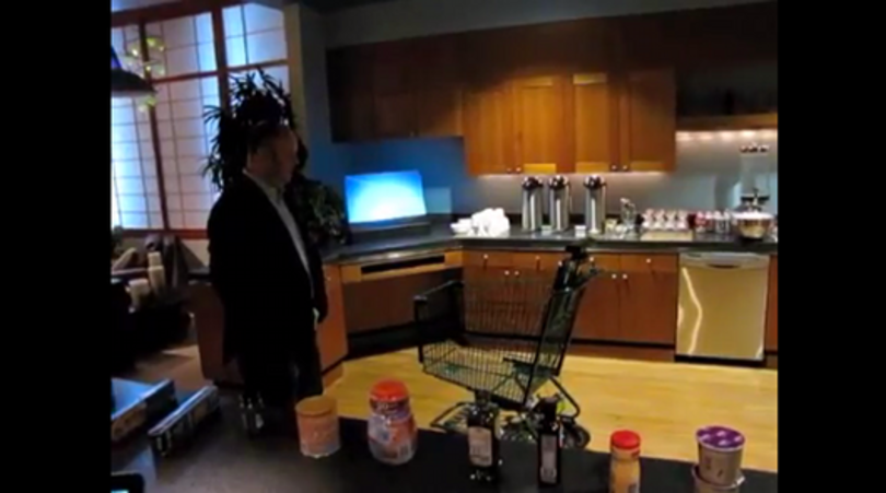 Microsoft demonstrates Kinect-enabled shopping cart