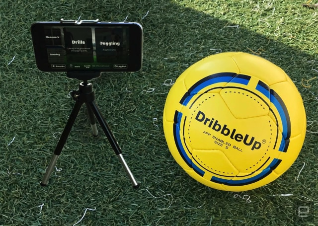 DribbleUp's 'smart' soccer ball helps you train with an app