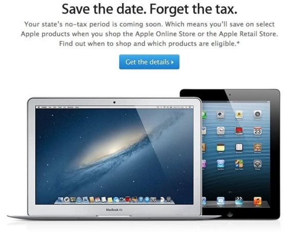 Apple promotes tax-free shopping days