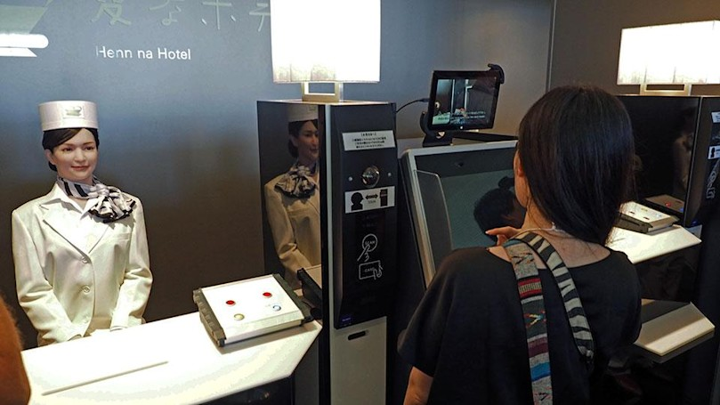 Japan's ridiculous robot hotel is actually serious business