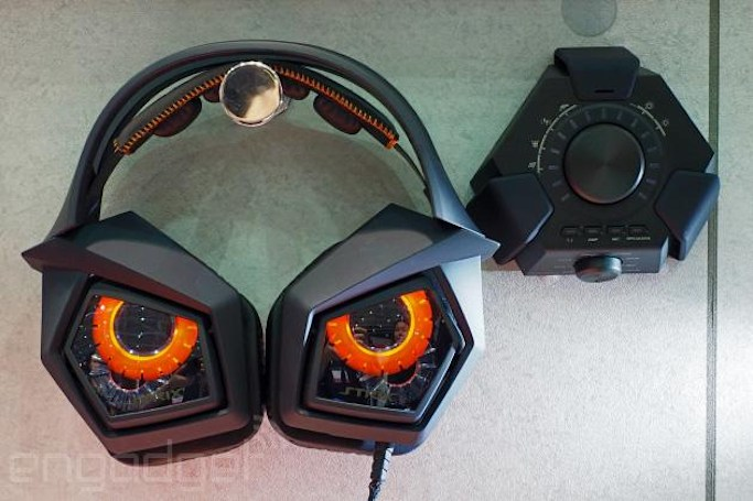 Angry owl is angry: ASUS does a badass gaming headset