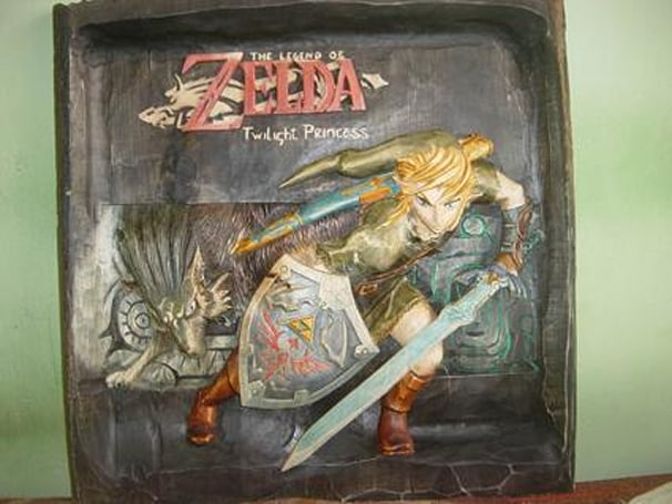 Gorgeous Zelda wood carving up for auction