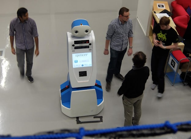 'Spencer' the robot is here to help guide lost airline passengers