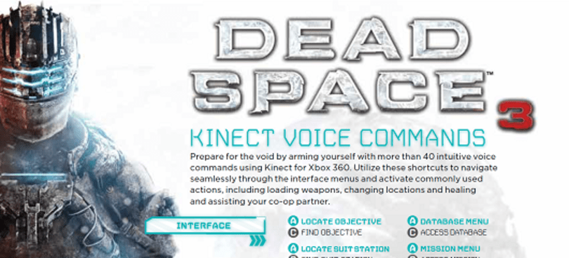 Scream to access all of Dead Space 3's Kinect voice commands