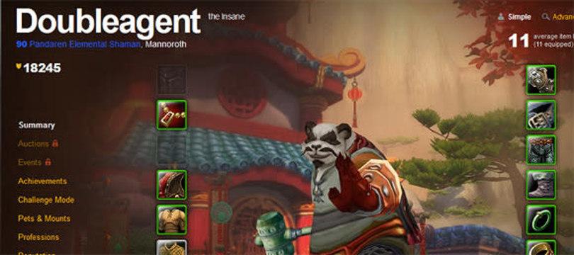 Neutral pandaren Doubleagent hits level 90