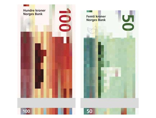 Norway's new bank notes are pixel art dreams