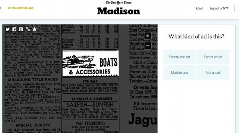 The New York Times wants you to help identify old newspaper ads