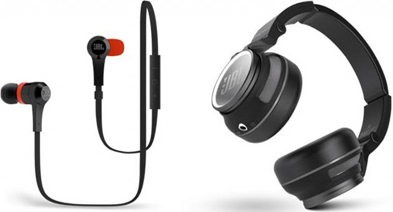 JBL's Flip 2 speaker, Synchros S400BT cans and J46BT in-ears suit all listening habits