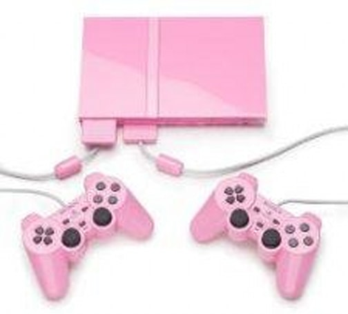 How 'bout a pink PS2 to go with that pink Razr phone?