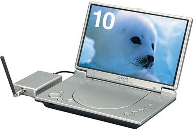 Axion's 10-inch portable DVD player with 1Seg TV