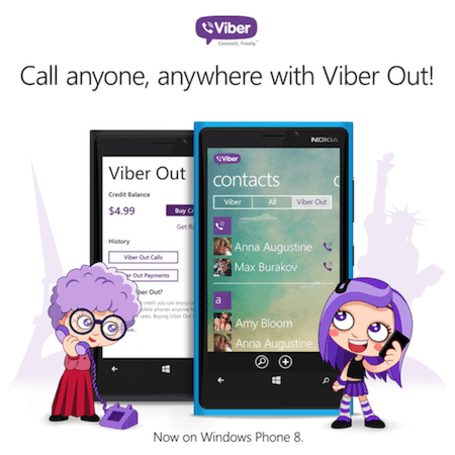 Viber's Windows Phone 8 app now allows you to call any number you want