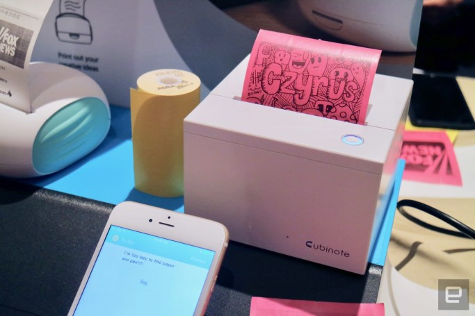 Cubinote prints colorful sticky notes from your smartphone