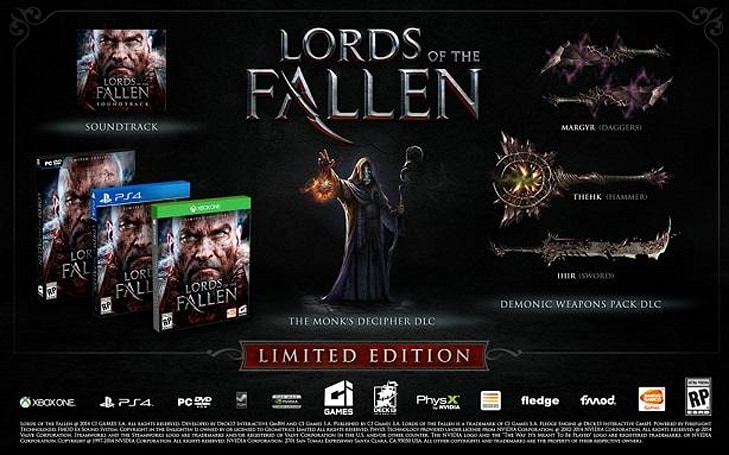 Pre-order Lords of the Fallen for bonus weapons, story DLC