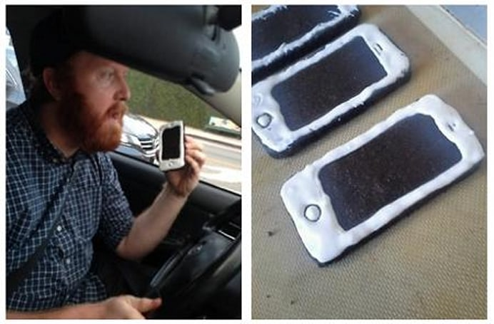 Comedian bakes iPhone cookies to fool cops, but you probably shouldn't
