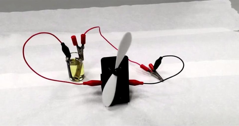 Light-based battery makes its own power
