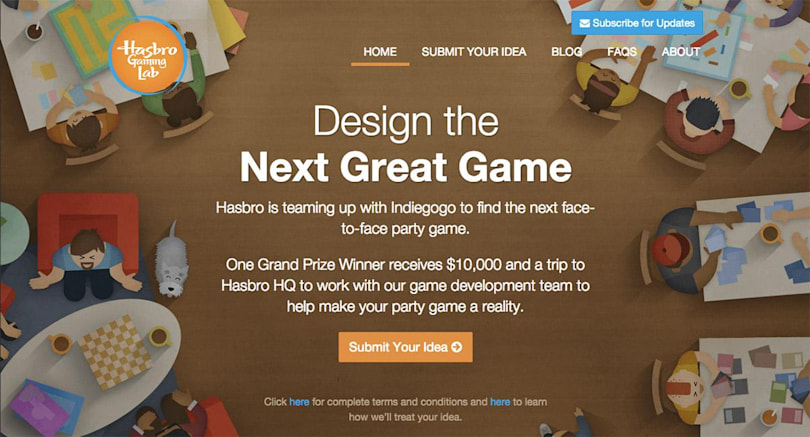 Hasbro wants to crowdfund your party game ideas on Indiegogo