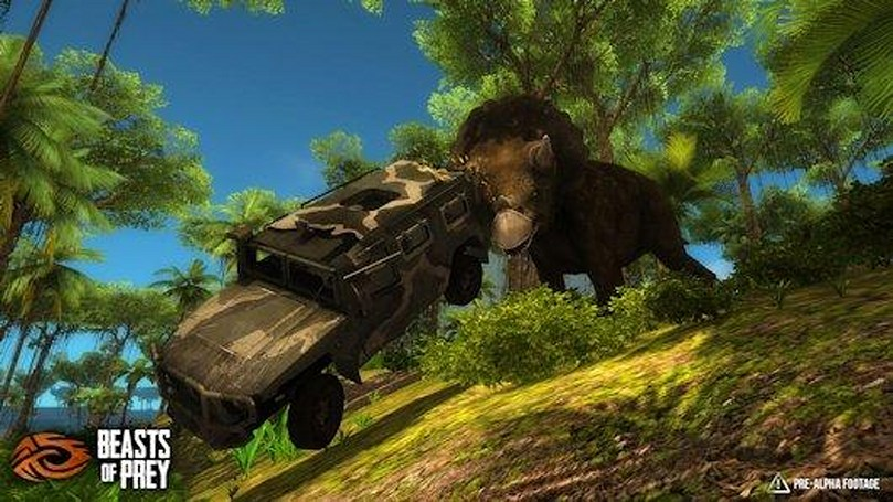 Beasts of Prey is a dinosaur-themed survival sandbox MMOFPS
