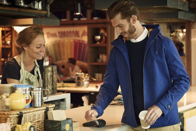 Barclays helps put contactless payments in a £150 jacket