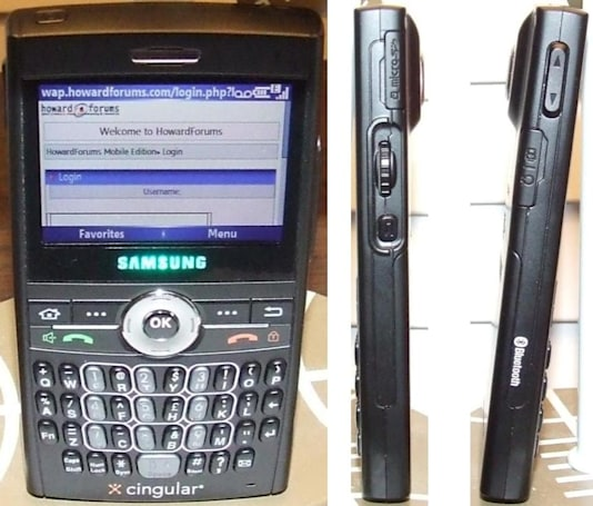 Samsung's SGH-i607 in the Cingular wild