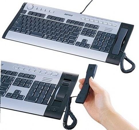 Buffalo's USB keyboard and Skype handset