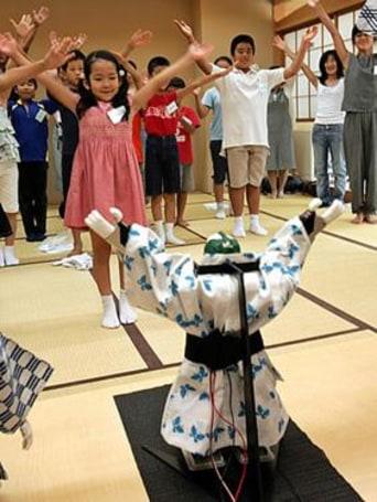 Yukata-clad robots party down in Tokyo