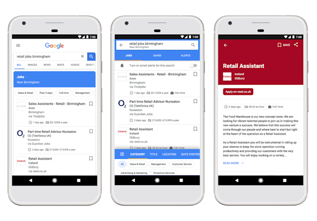 Google's job search feature comes to the UK