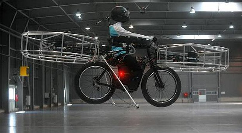 Researchers flaunt flying bike, no mention of alien-caching basket (video)