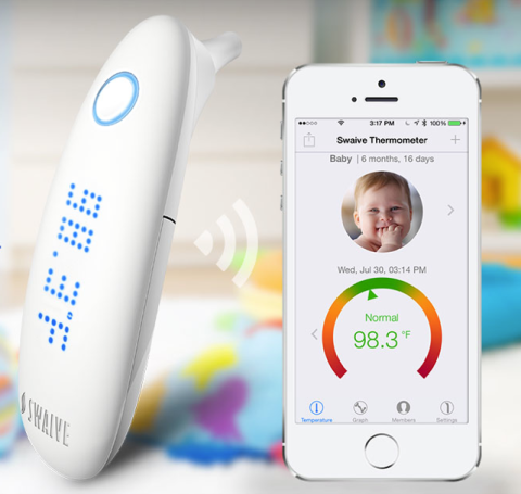 Swaive smart thermometer works with iPhone, Health app