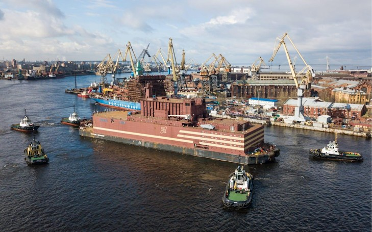 Russia launches floating nuclear power plant on Baltic Sea (updated)