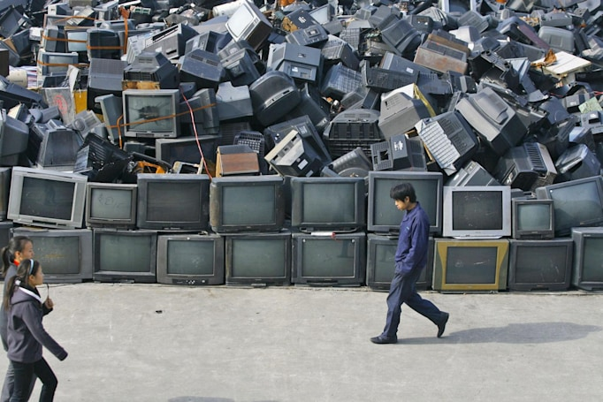 E-waste levels are surging in Asia