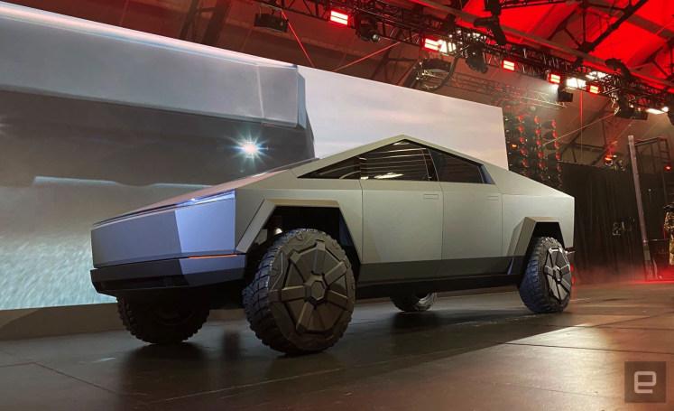 Elon Musk took Tesla's Cybertruck for a weekend drive around LA