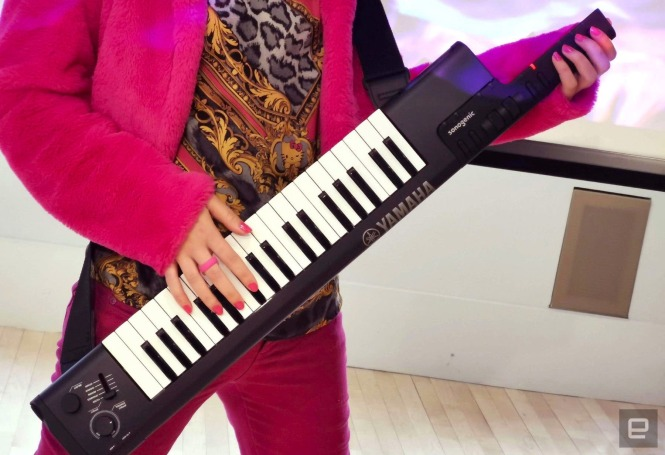 Yamaha's Sonogenic keytar is equal parts instrument and party trick