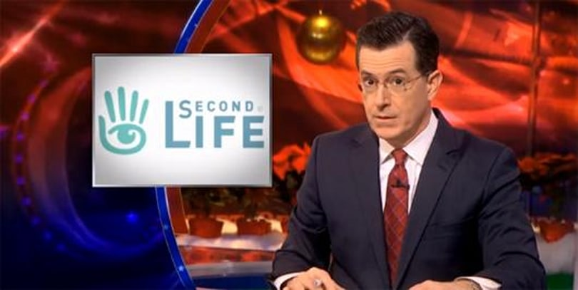 Colbert cracks ancient Second Life joke, picks on NSA