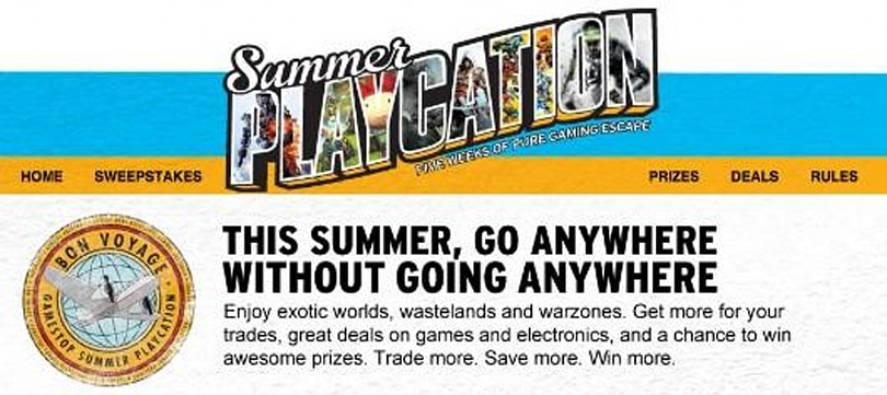 GameStop Summer Playcation offers double credit on system trade-ins