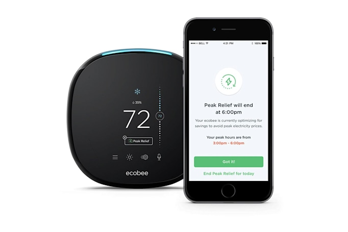 Ecobee smart thermostats now save you money during peak hours