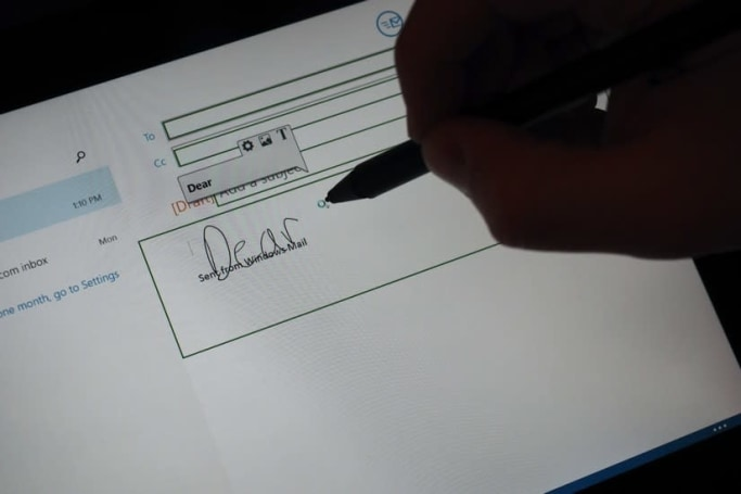 Lenovo's new Windows app lets you enter handwriting in any text field
