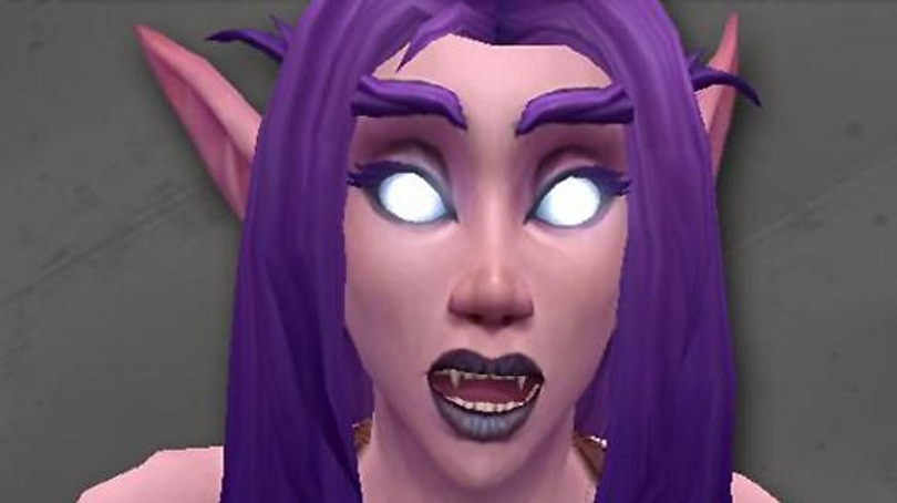 Extended canines confirmed for new night elf model