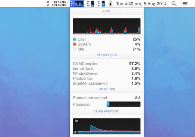 iStat Menu 5 for Mac brings big improvements