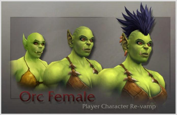 Orc female model revealed