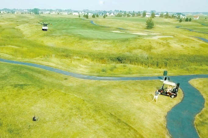 Golf course drone deliveries help you grab a bite on the green