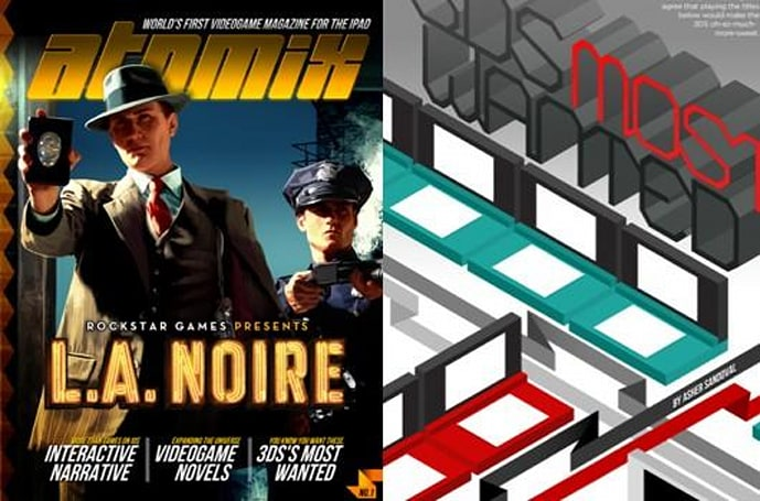 Area 5 producing monthly 'Atomix' magazine for iPad