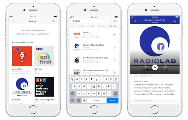 Pandora's podcast recommendations are no longer a test