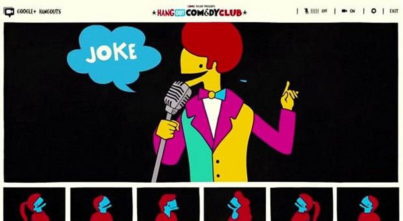 Google's Hangout Comedy Club measures your laughs for Comic Relief (video)