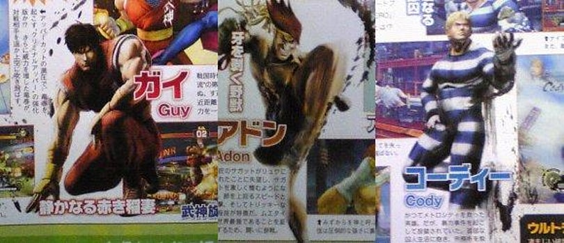 Famitsu: Cody, Adon, and Guy join Super Street Fighter IV