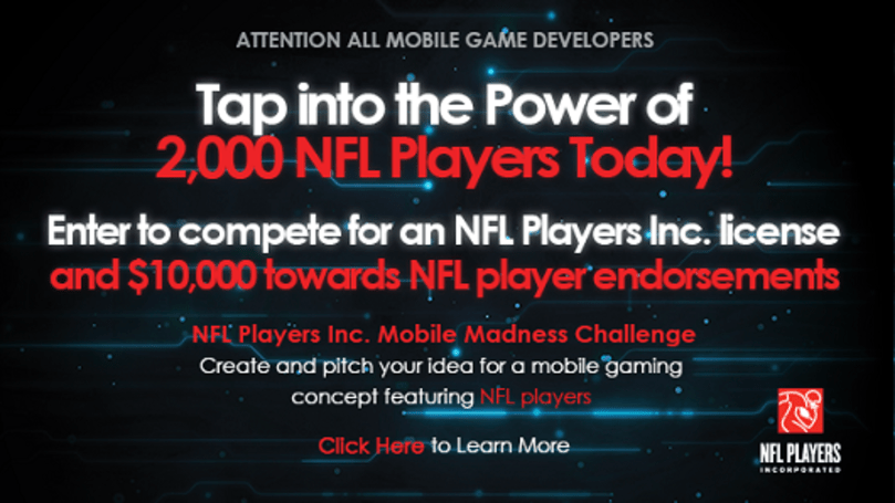 NFL Players Association contest rewards mobile dev with license this season