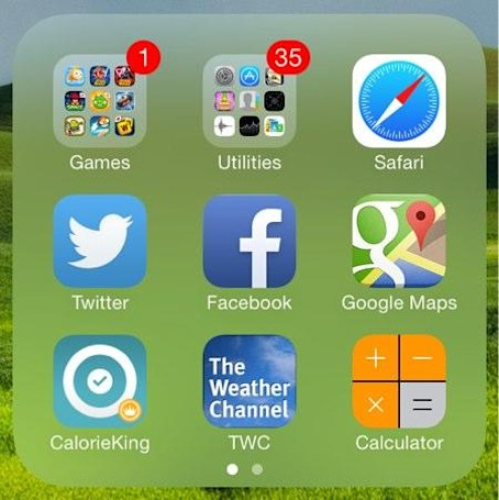 How to create nested folders on iOS 7